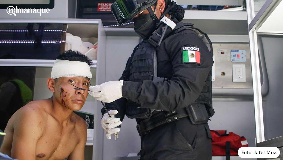 Pelea de ambulantes Puebla