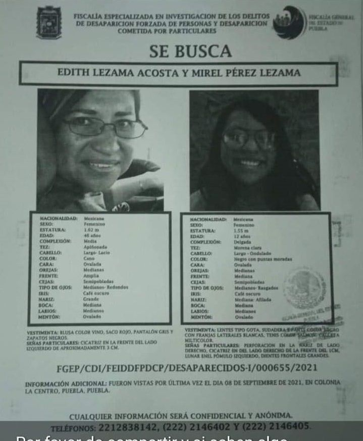 Edith Lezama y Mirel Pérez